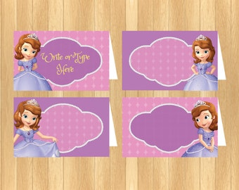 INSTANT DOWNLOAD - EDITABLE Sofia the First Food Tent