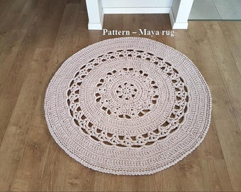 Pattern for Maya rug, T-shirt yarn rug
