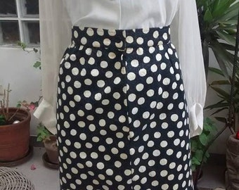 Incredible 1980s  stellas amazing Ungaro dot skirt