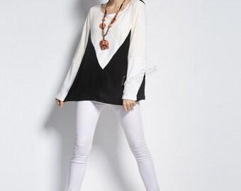 Anysize RabbitFur gradient color sleeve spring autumn sweater plus size dress plus size tops plus size clothing spring autumn dress Y234