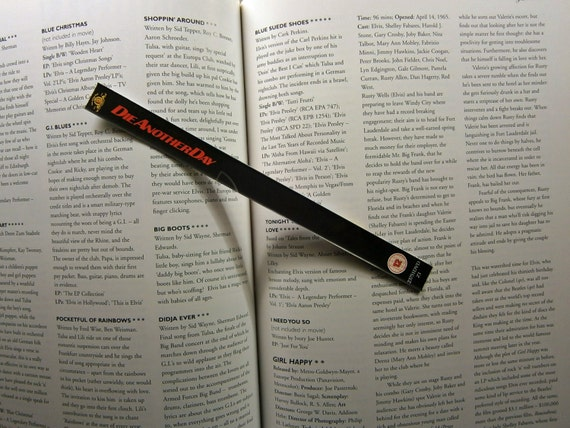 Die Another Day - Skyfall - Casino Royale - James Bond - Pierce Brosnan Daniel Craig - Recycled DVD bookmark spine