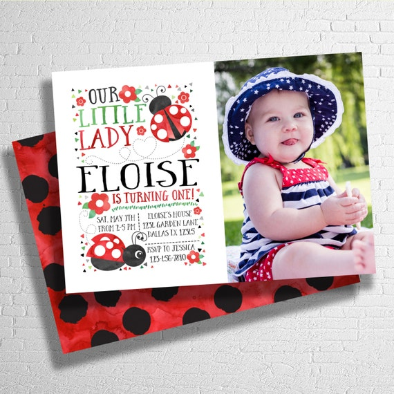 lady bug invitation ladybug invite our little lady birthday