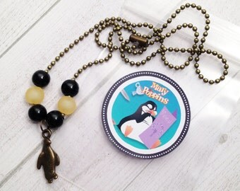 6 - Mary Poppin's Penguin Boy Party Favor Mary Poppins Birthday party favor Penguin boy party favor Dancing Penguin Mary Poppins necklace