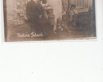 Rodina Tatari Circa 1910 Authentic Gypsies ,Postcard,Unused,Photograph
