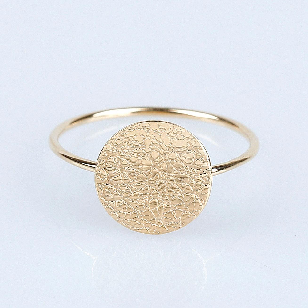 14k gold circle ring 14k solid gold simple ring 14k gold