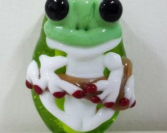 Handmade Focal Frog Bead