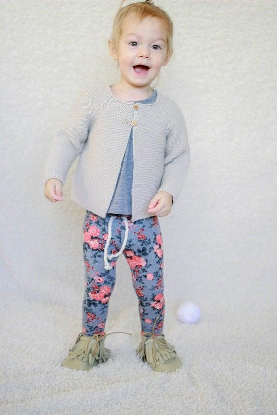 Baby Leggings Floral Leggings Minimalist Baby