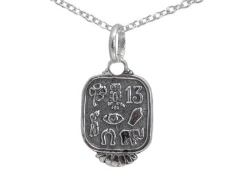 Sterling silver good luck pendant necklace, SUE024