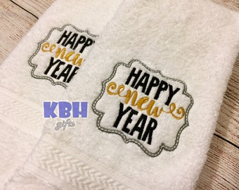 Happy New Year Hand Towel