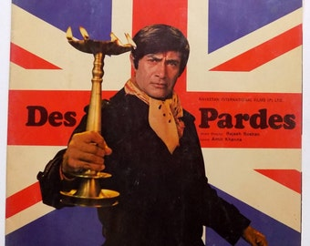 Des Pardes Bollywood Movie Vinyl Lp 33 Rpm Record OST HMV Music by Rajesh Roshan Record in Excellent Condition India M-4 + Free Gift