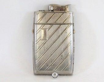 Evans Cigarette Case and Lighter, Retro Cigarette Lighter, Silver Tone, 1940's Nostalgia