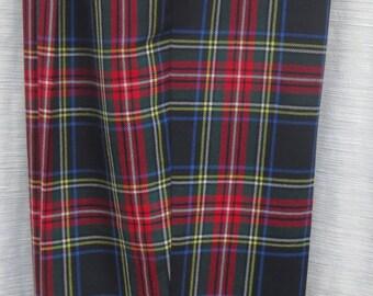SCOTCH PLAID WOOL pants fully lined