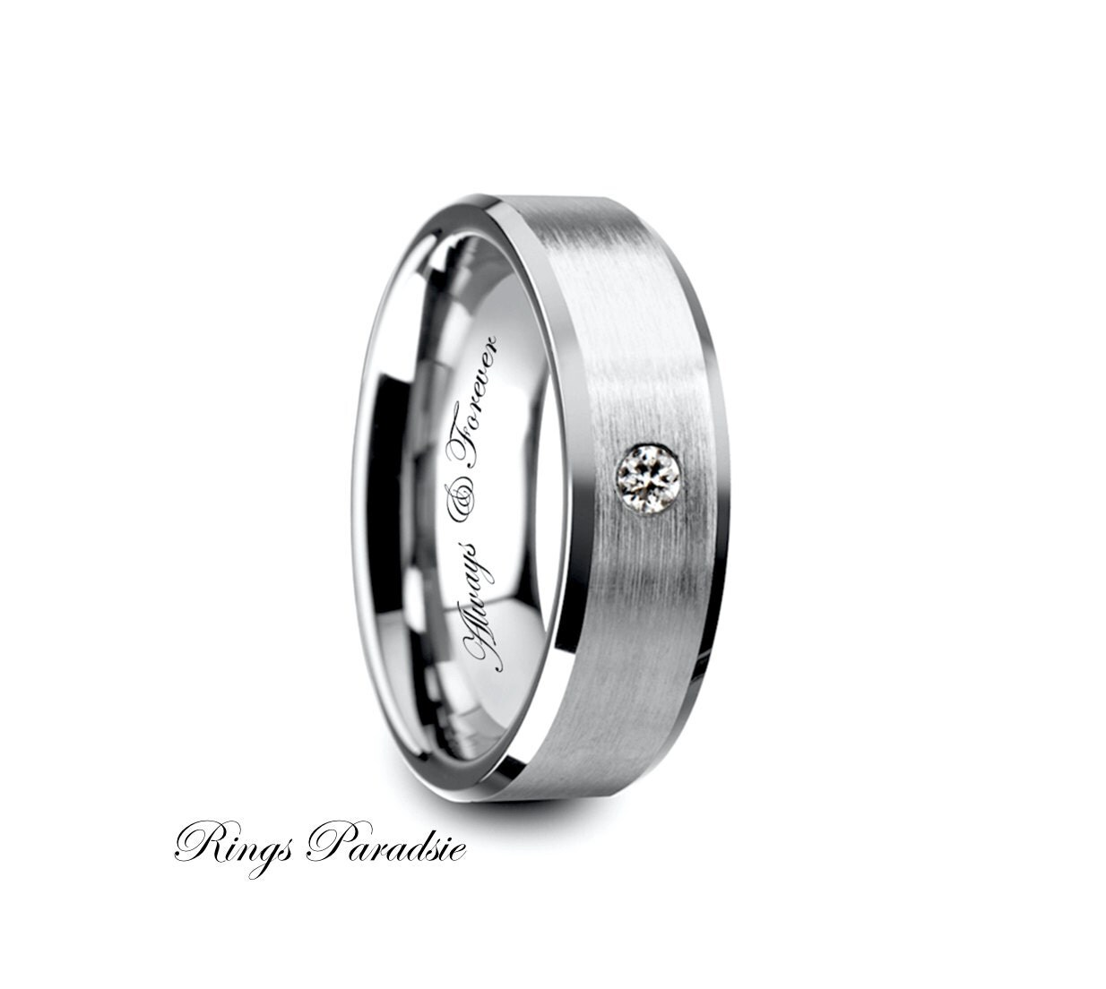 diamond tungsten ring mens rings tungsten wedding band. Black Bedroom Furniture Sets. Home Design Ideas