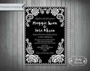 papel picado wedding invitation suite papel picado inspired wedding invitations papel picado bridal shower - Papel Picado Wedding Invitations
