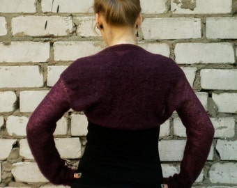 Burgundy Bolero Wedding shrug wedding bolero alpaca shrug camel wool sweater Bridesmaid top shrug Bridal sweater bolero  wedding cover up