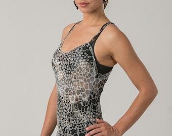 Sheer Summer Top, Sheer Tank Top , Casual tops , Casual Women's top , Snake Print