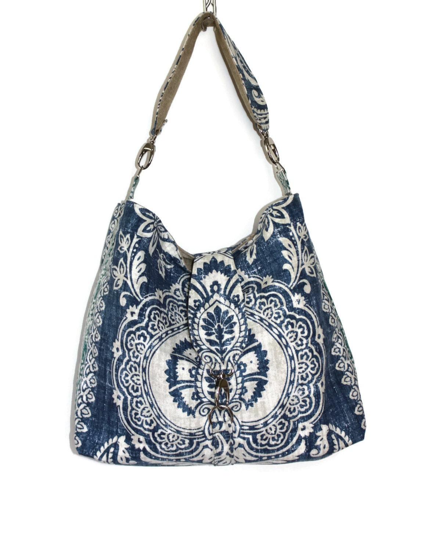 Fabric Hobo Shoulder Bag - Glove Crossbody Bag