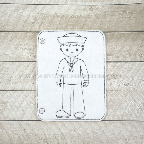 Navy sailor military soldier in the hoop doodle it coloring for Navy sailor coloring pages