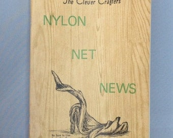 Nylon Net News book | vintage nylon net book | 1965 |  written and printed in Colorado  | over 60 projects