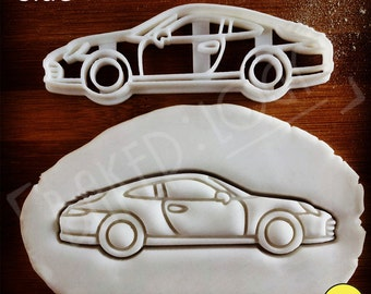 Porsche 911 Classic Sports Car Cookie Cutter | biscuit cutters | two door high performance nine eleven daytona motor sport fanatics supercar