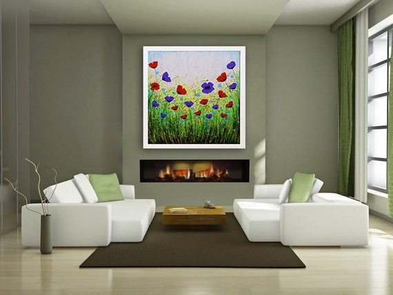 art prints giclee large wall art abstract floral floral