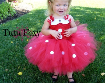 Minnie Mouse Tutu Dress, Minnie Mouse Tutu, Minnie Mouse Costume, Red Minnie, Minnie Mouse Birthday Outfit,