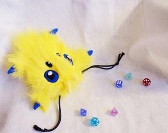 Pokemon Joltik Dice Bag Plush Drawstring Pouch