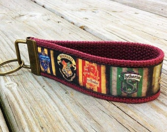 Harry Potter Hogwart's Houses Key Fob Key Chain