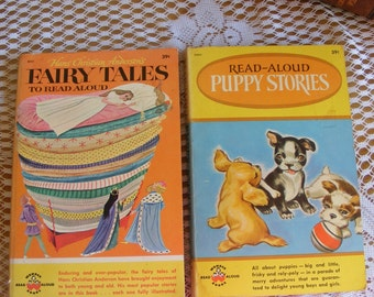 2 Vintage Read Aloud Wonder Books Paperbacks for Children Puppy Stories #2004 and Hans Christian Andersen's Fairy Tales #2023 ~ 7147b