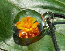 Heady Glass Pendant - Blown Glass Pendant - Glass Pendant - Blown Glass Necklace Pendant - Anniversary Gift - Christmas GIft for Girlfriend