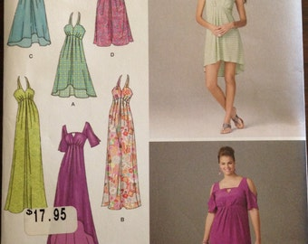 Simplicity 1659 - Halter or Square Neck with Keyhole Summer Dress - Size 20 22 24 26 28