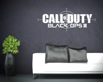 Call of Duty Black Ops 3 - Vinyl Transfer - Wall Sticker - Gaming - Boys Bedroom