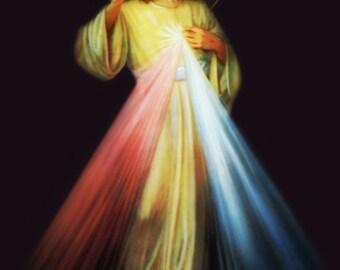Jesus Divina Misericordia Spanish - Español 3 Imagenes DIY  8x10, 5x7, & 4x6 Digital Imprimibles