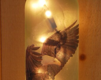 Rustic Lighted Wine Bottle