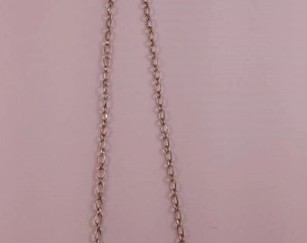 Moustache necklace pink