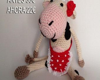 REBATES. Plush cow Flemish amigurumi for children and adults, 100% handmade.