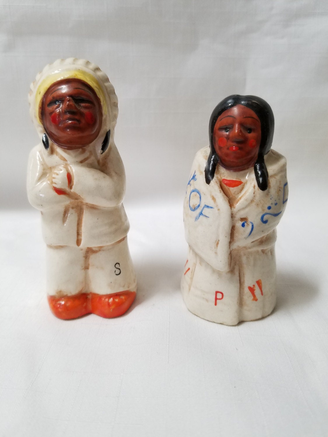 Native american salt and pepper shakers 835 Colorful salt and pepper shakers