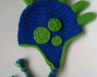 Crochet Spiky Dino Hat