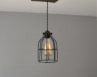 Pendant Light - Pendant Lighting - Reclaimed Wood - Pendant fixture - Ceiling Pendant - Flush Mount Pendant - Home lighting - light fixture