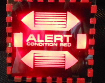 Red Alert Desk or Shelf Light