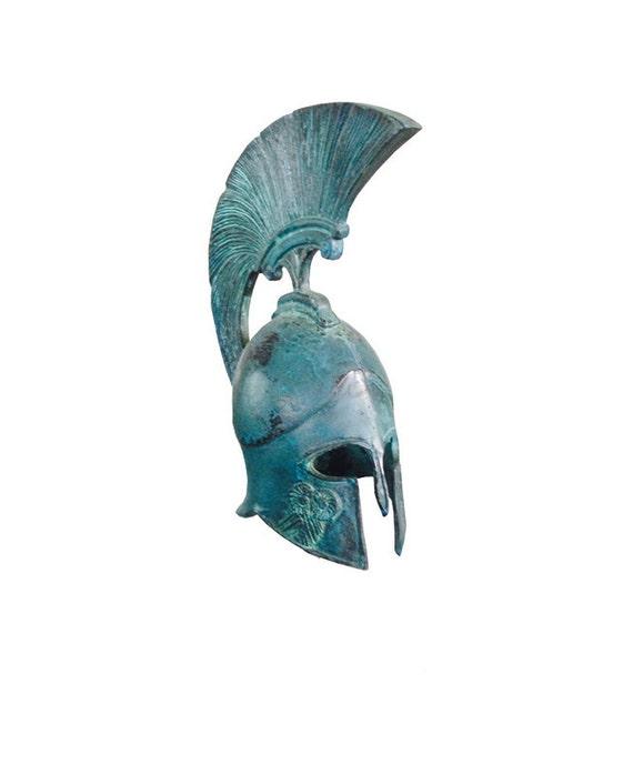 Greek Spartan Corinthian Bronze Small Helmet - Goddess ...  |Athenas Greek Helmet