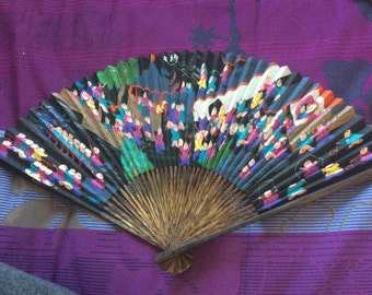 Summer Charm! Chinese hand painted bambo fan. 100 kids unlimited luck?