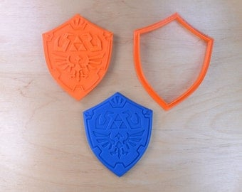 Zelda Link  Shield -   Cookie Cutter and Stamp Set