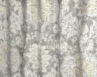 Shower Curtain Belmont Mist Beige Grey Cream 72 X84 108 Custom Fabric