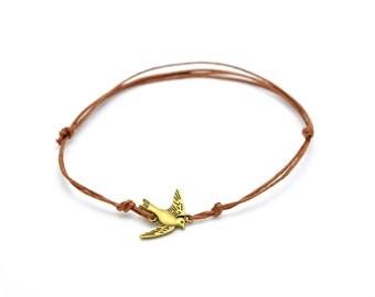 Bronze swallow foot chain