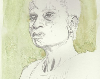 The 100 Portrait Print- Indra Sketch