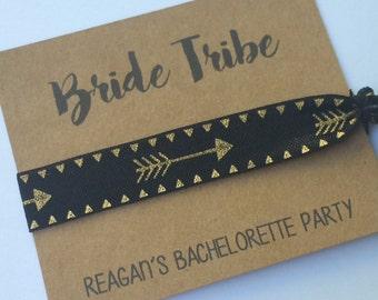 Elastic Hair Tie, Hair Tie Favors, Bachelorette Favor, Bridesmaid Favor, BRIDE TRIBE, Knot Hair Ties, Bachelorette Hair Tie Favors