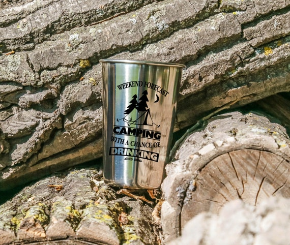 Camping With a Chance of Drinking | Stainless Steel Tumbler | 18 oz. | Outdoor Drinkware
