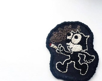 Felix the Cat - Hand Embroidered Patch