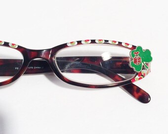 Lucky Lady Bug Reading Glasses +3.75 Painted Glasses